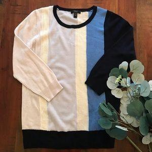 J.Crew Merino Sweater in Mixed Weave Blue